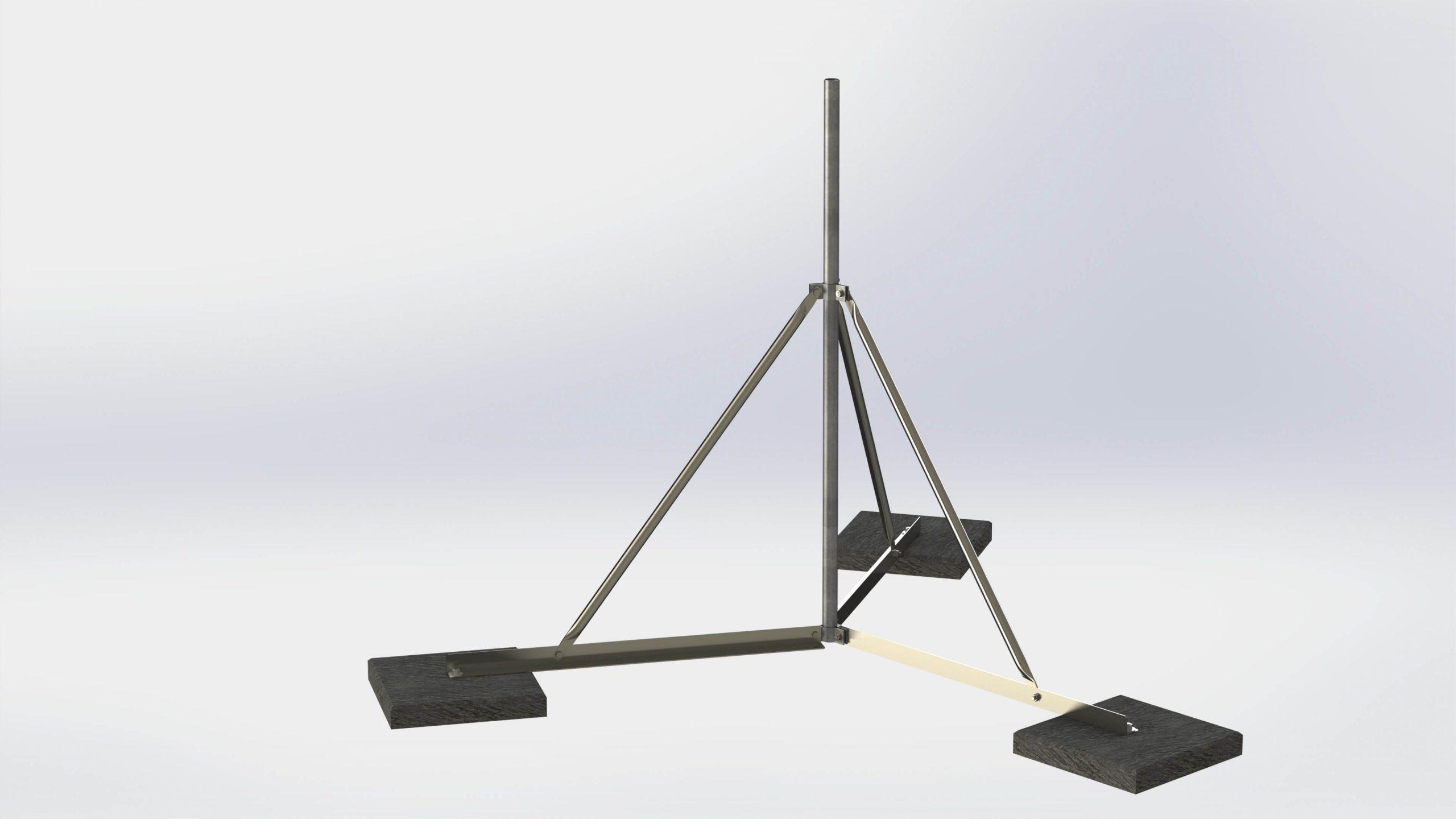 Antenna állvány lapos tetõre – horg. Acél