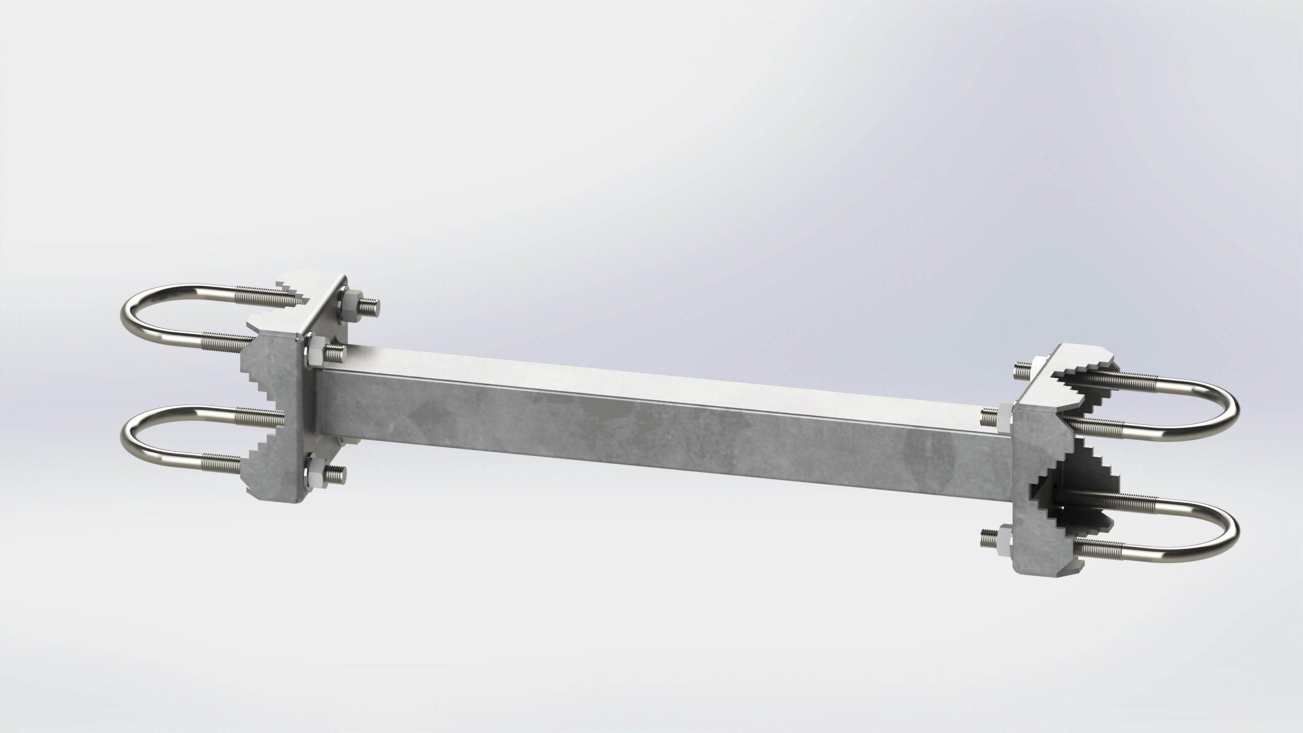 Dupla körmös eltartó 40cm horganyzott M10