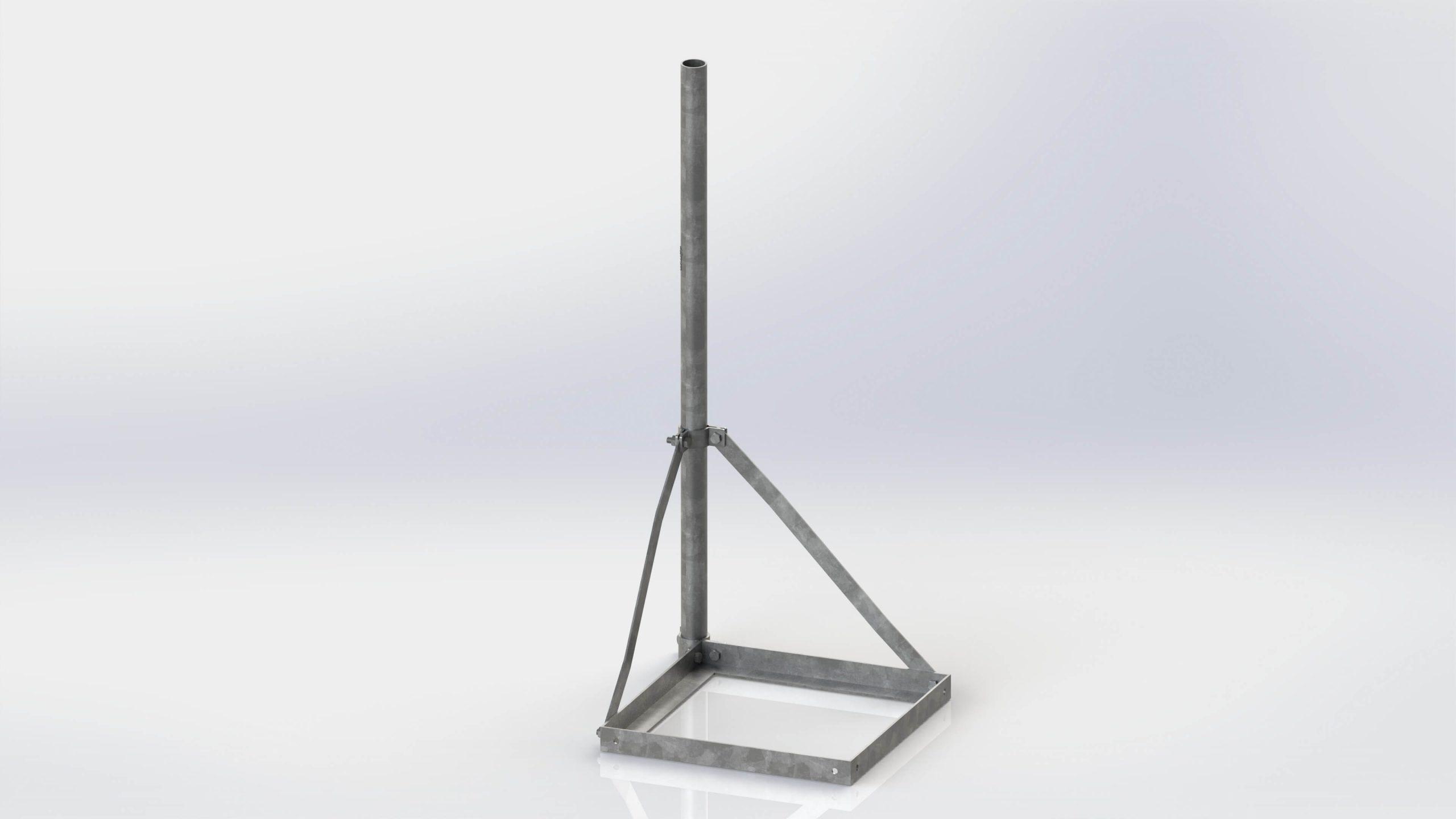 Összeszerelhető egylábú tetőtartó