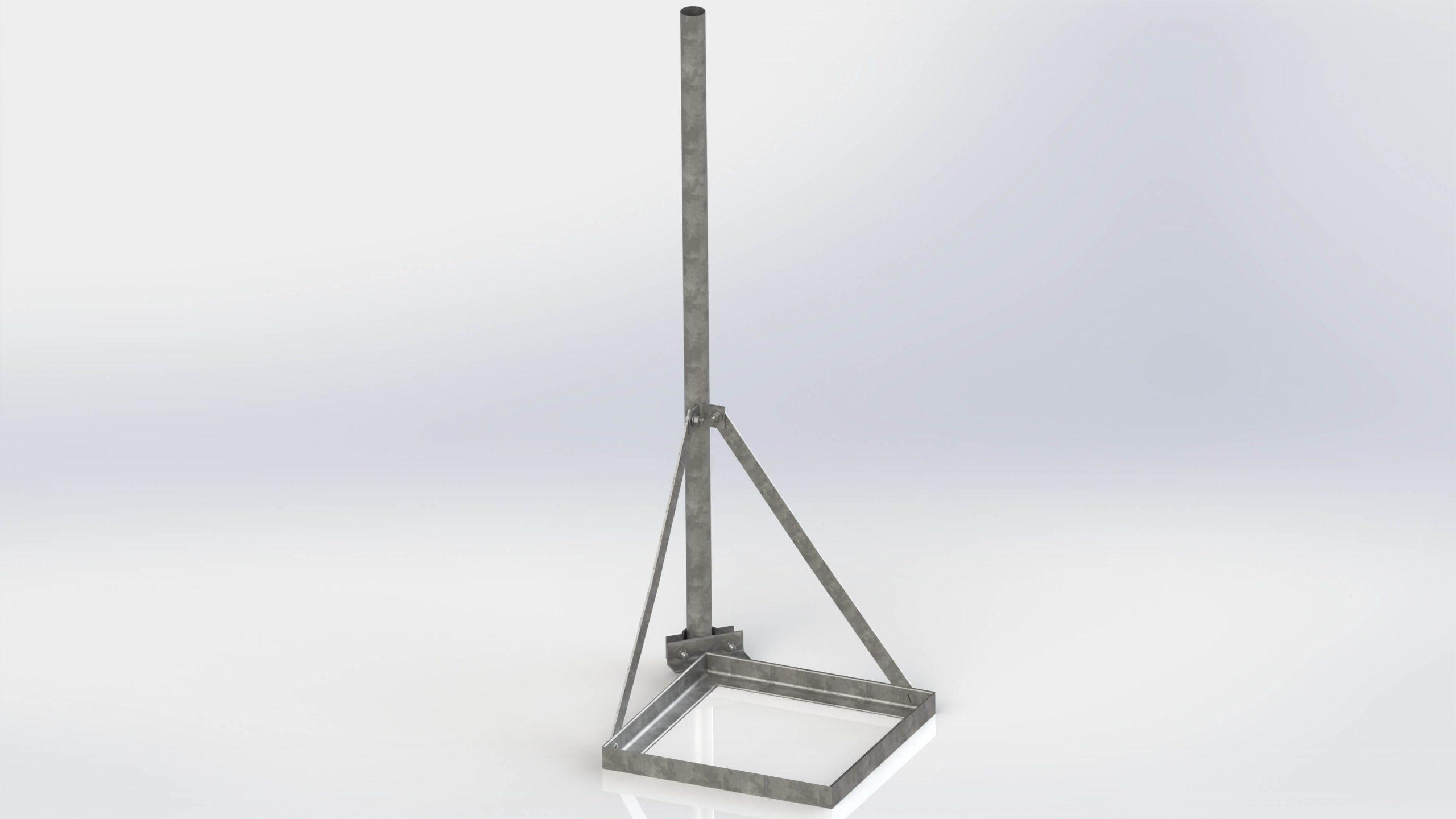 Szögacél egylábú tetőtartó